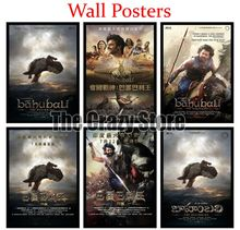 Baahubali The Beginning Classic White Kraft Paper Paintings Vintage Wall Posters Stickers Home Decor Gift 42X30cm