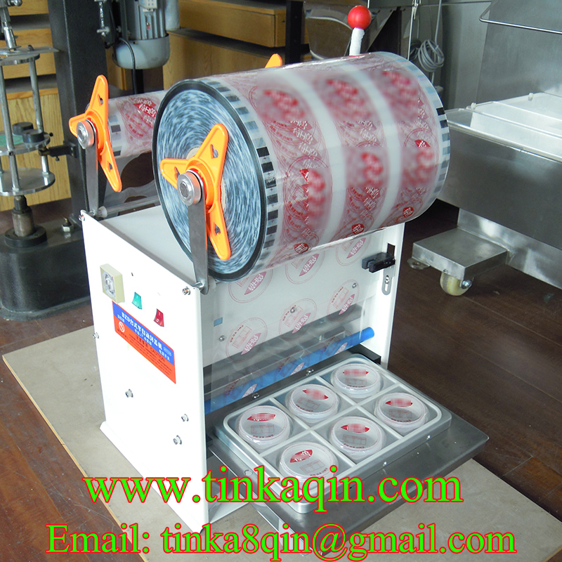 FGJ Y1 6 Semi automatic capping machine Cup capper Sealer Packing Machine Jelly seal Paper cup sealing machine Plastic|Vacuum Food Sealers| |  - title=