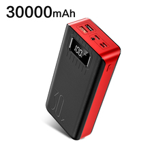 Power Bank 30000mAh Portable Fast Charging Poverbank 30000mAh 2 USB External Battery Charger For iPhone Xiaomi Mobile Phones most powerful solar power bank external battery power bank charger 30000mah for smart mobile phones tablet pc