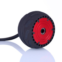 2Pcs 105LMH 500W Hub Motor with Non replaceable All Terrain Rubber Wheels Accessories For Skateboard Outdoor Sports Fun Red
