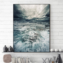 Posters and Prints Nordic Style Wall art Picture seawater Cuadros Canvas Painting Artwork for Walls