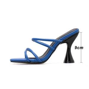 Image 5 - Kcenid SLIP บนรองเท้าแตะผู้หญิง 2020 อินเทรนด์ถ้วยรองเท้าส้นสูงสีขาวรองเท้าผู้หญิงฤดูร้อนรองเท้าแตะสุภาพสตรีชายหาด flops