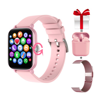 Y20 Woman Smart Watch 2021 Full Touch Screen Knob Rotation Fitness Tracker GTS 2 Smartwatch For Xiaomi IPhone PK P8 Plus 1