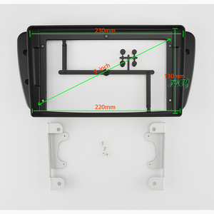 Image 1 - 9 INCH Car Audio Frame GPS Navigation Fascia Panel Car dvd Plastic Frame Fascia is suitable for  2008 2015 SEAT IBIZA