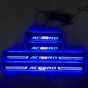 Image 2 - 4 adet/takım için geçerli ACCORD LED aydınlatma eşik aydınlatma eşik aşınmaya dayanıklı plaka karşılama pedalı dekorasyon için honda