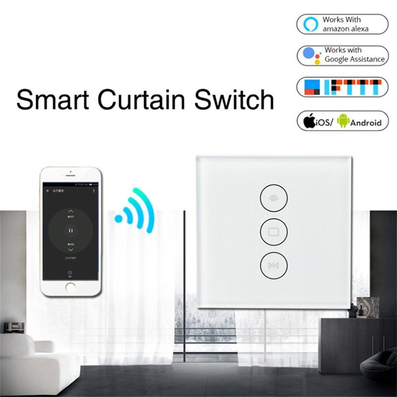Smart Home WiFi Electrical Touch Smart Blind Curtain Switch Ewelink APP Voice Control By Alexa Echo Google Home Casa Inteligente