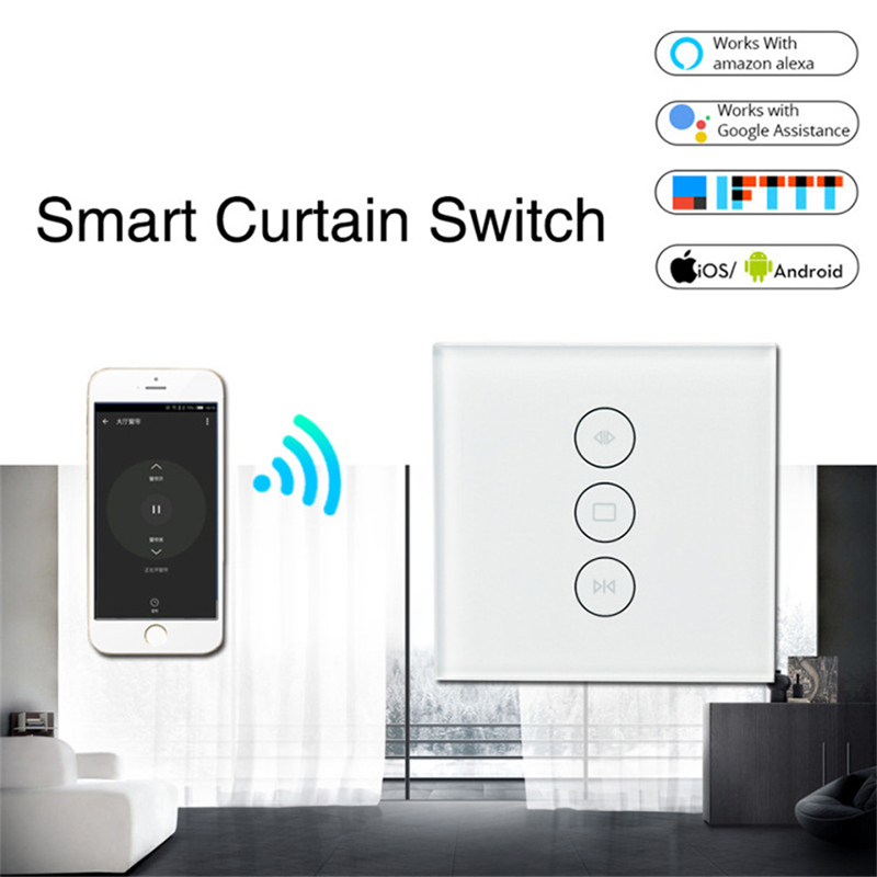 WiFi Smart Curtain Switch Tuya Smart Life Electric Motor Roller Shutter Switch Alexa And Google Home Voice Control Smart Home