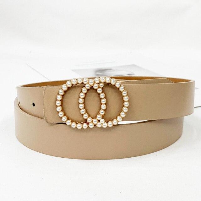 Waist pearl fashion belts for women 1