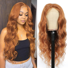 Wigs Lace Closure Human-Hair Body-Wave Brown Black Pre-Plucked 30-Brazlian 4x4 for Women