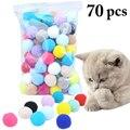 Милые забавные игрушки для кошек  тянущийся плюшевый шарик 0 98in  игрушечный мяч для кошек  креативная красочная интерактивная игрушка с помп...