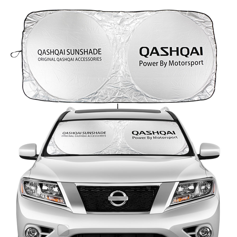 Car Windshield Sunshades Sun Shade Covers Front Window Visors for Nissan Qashqai J10 J11 Auto Flodable Windowshade Accessories