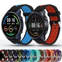 Cinturino 22mm per Xiaomi MI Watch Color Sport cinturino globale sgancio rapido cinturini in Silicone braccialetto Wristband correcorrea