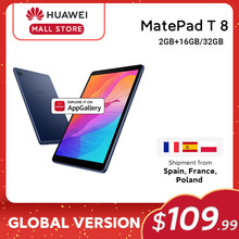 HUAWEI – MatePad T8 tablette PC 8.0 pouces LTE, Version globale, 2 go 16 go, faceunlock, grande batterie 5100mAh, prise en charge de la carte microSD, android 10 T8
