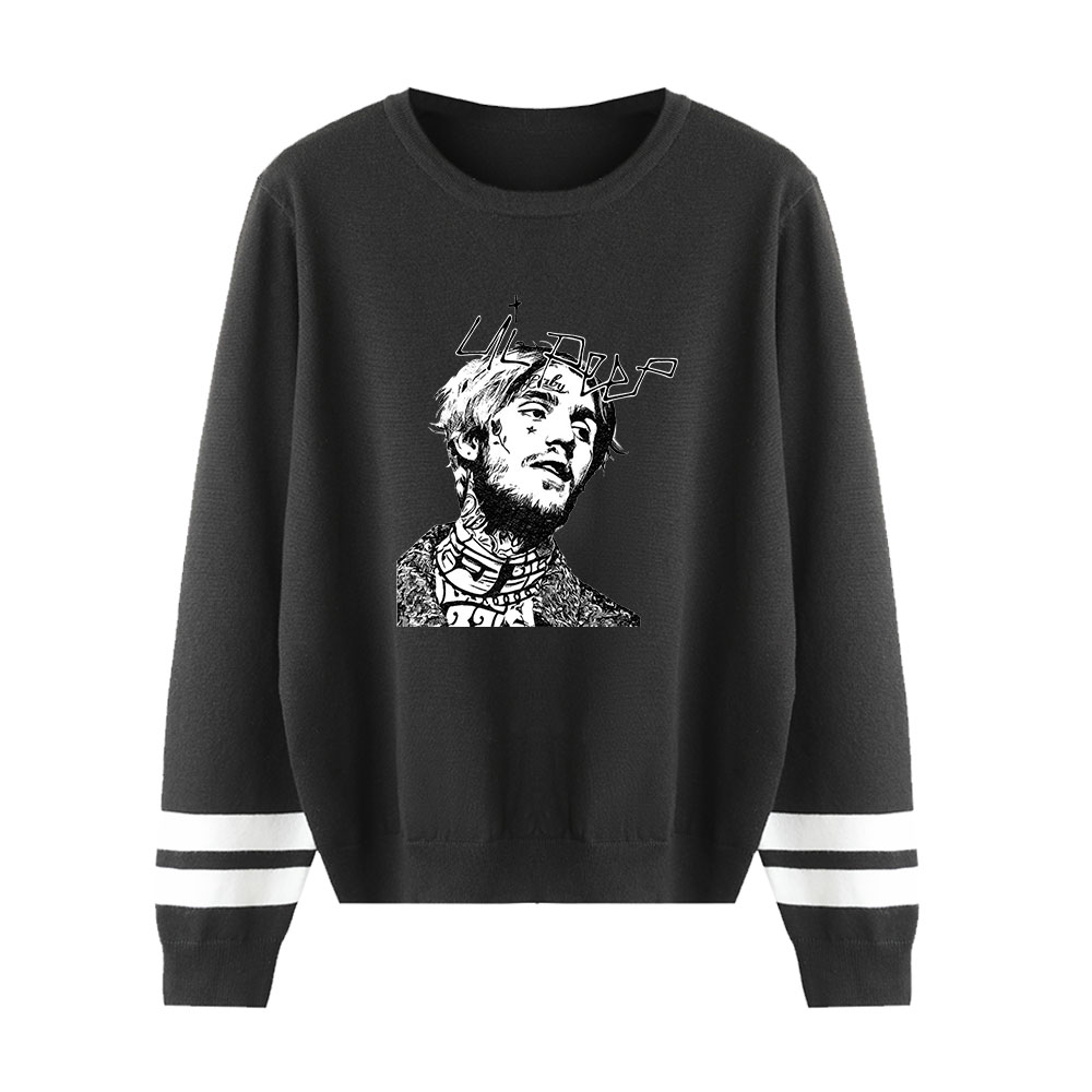 Suitable Print  Lil Peep O-Neck  Pullovers Autumn Sweaters Spring Fashion Hip Hop Men Women Sweaters Male Female Black Tops
