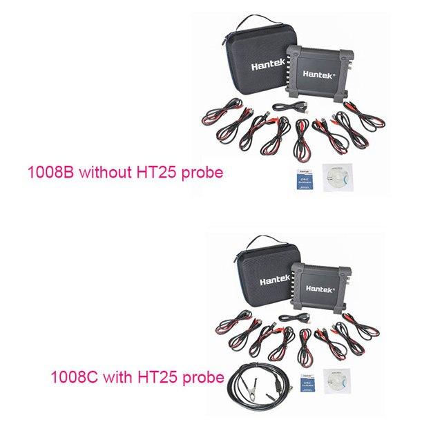 Hantek 1008c oscyloskopu motoryzacyjny/DAQ/programowalny Generator ręczny 8 kanałów USB oscyloskopy z Auto zapłonu sondy