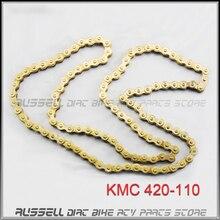 420 110L KMC CHAIN Drive 420 110 LINKS 70cc 90cc 110cc 125cc ATV QUAD PIT DIRT BIKE XR/CRF50 CRF70 Motorcycle Motorcross
