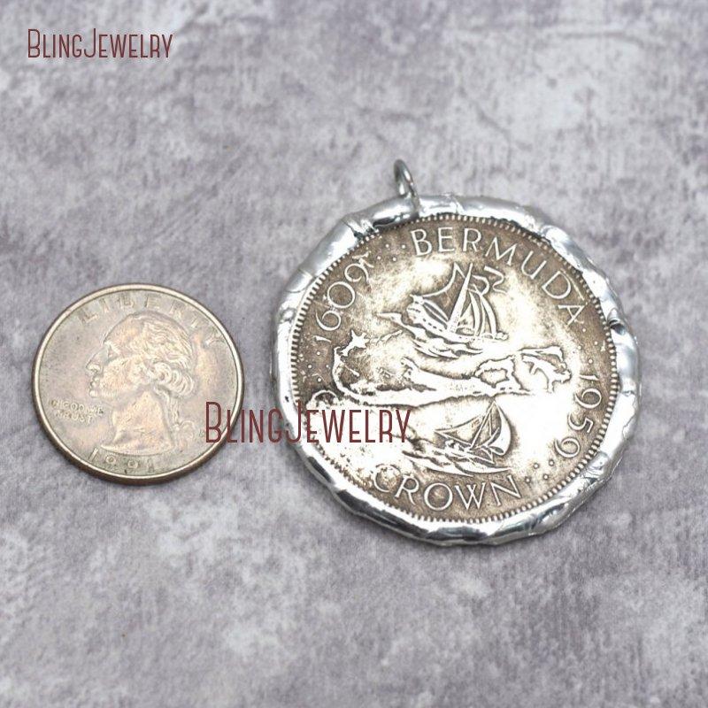 Копия монеты кулон спаянный Серебряный 2 сторонний, свинец FreePM29279