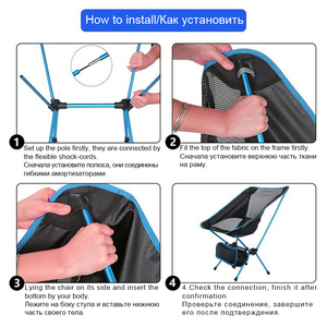 Image 3 - Travel Ultralight Folding Chair Superhard High Load Outdoor Camping Chair Portable Beach Hiking Picnic Seat Fishing Tools Chair