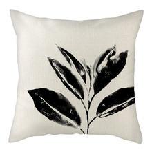 Nanacoba растительная ветка Печать наволочки черные синие листья