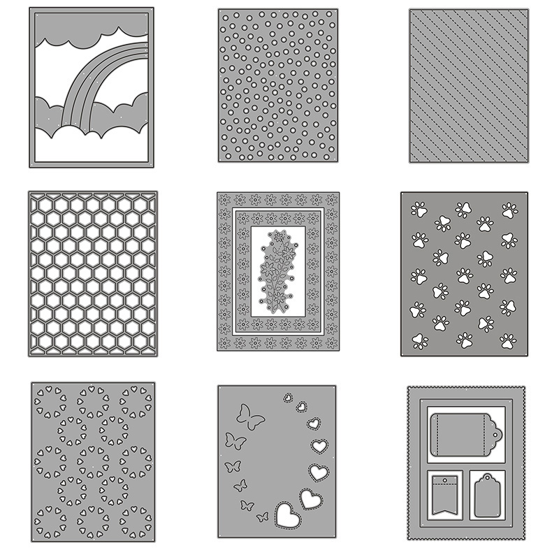 26pcs Background Frame Metal Cutting Dies For DIY Scrapbooking Photo Album Decorative Embossing Paper Card Crafts Die Cut 2019
