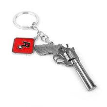 Red Dead Redemption 2 Gun brelok Rockstar Game Outlaws For Life metalowy brelok do kluczy akcesoria mężczyźni samochód kobiety torba breloczek