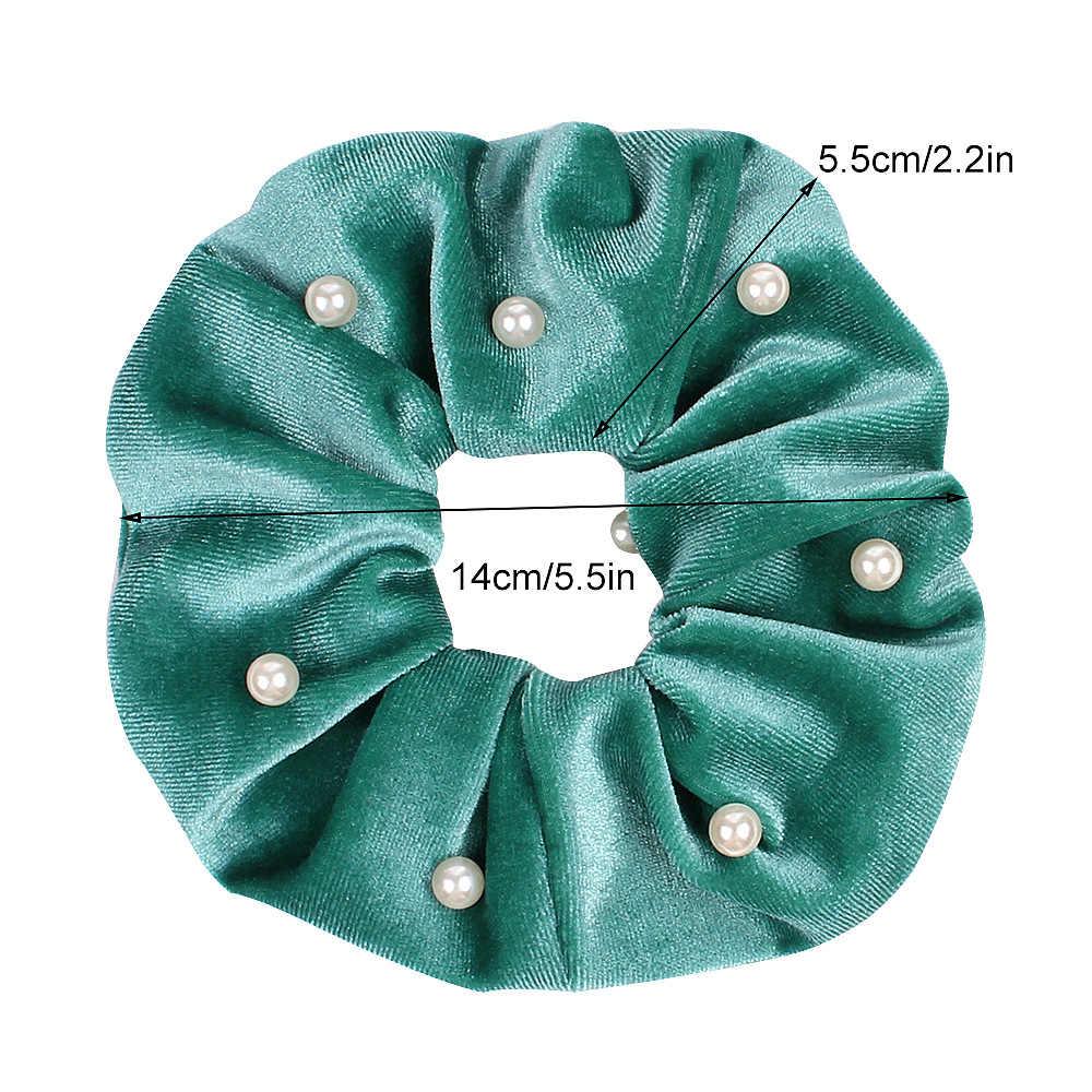 ベルベットシュシュ女性ガールズ弾性ヘアゴムバンドアクセサリーガム女性のためのネクタイリングロープポニーテールホルダー頭飾り