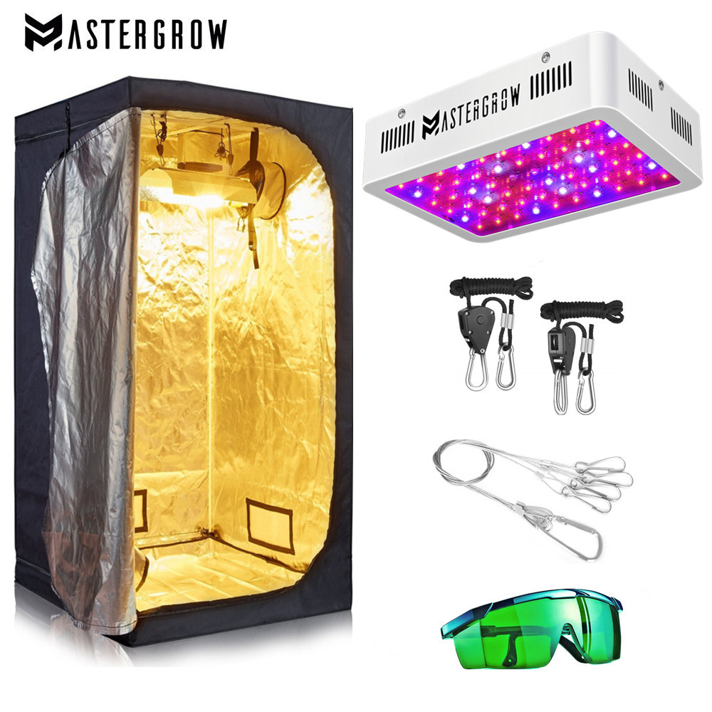 Crescere Tenda Camera Kit Completo 1000W 2000W LED Coltiva La Luce + Multipla Dimensione Grow Tenda Combo di Coltivazione Idroponica sistema per le Piante D'appartamento