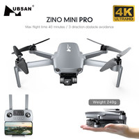 Hubsan ZINO Mini PRO-Dron con cámara 4K, cuadricóptero de cardán de 3 ejes, 40 minutos, 10KM, FPV, prevención de obstáculos, profesional, 249g