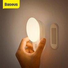 Baseus manyetik gece lambası LED sensör indüksiyon gece lambası ayrılabilir mutfak ışığı dolap ışığı için yatak odası lambası dolap