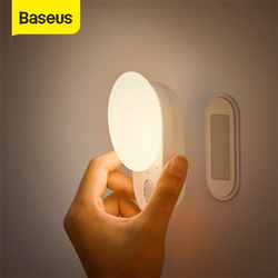 Baseus Magnetic Night Lamp LED Sensor Induction Night Light Detachable Kitchen Light Cabinet Light For Bedroom Lamp wardrobe