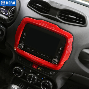 Image 5 - MOPAI Auto Center GPS Navigation Dekoration Rahmen Abdeckung Innen Aufkleber Zubehör für Jeep Renegade 2015 2017 Auto Styling