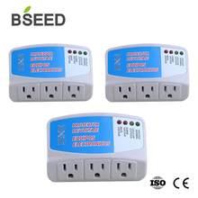 Bseed güç koruyucu abd standart 120V 3 paket PC soket beyaz ev aletleri dalgalanma koruyucusu gerilim 50Hz-60Hz duvar soketi