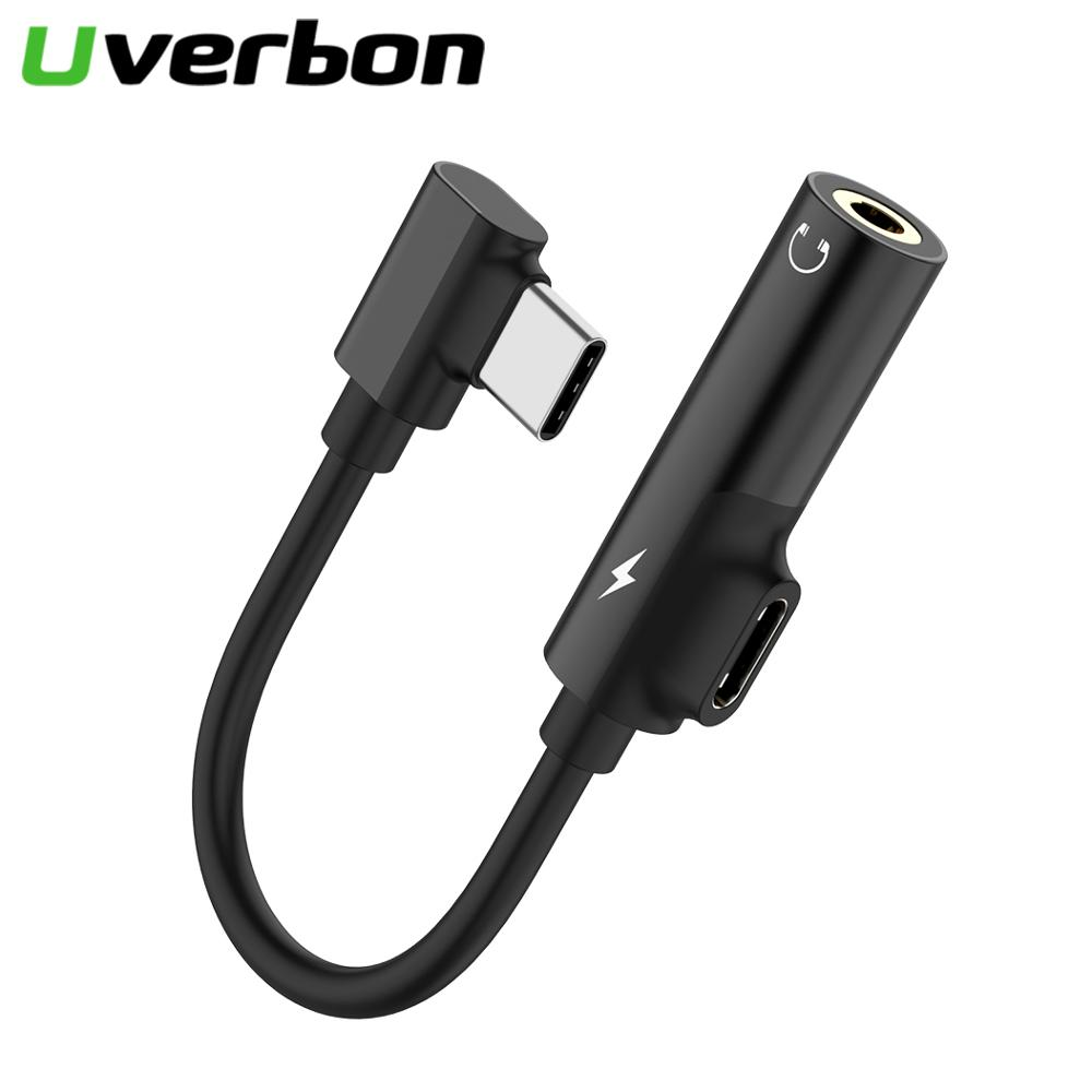 Listening Charging Cable 2 In 1 Type C To 3.5mm Jack Earphone Charging Converter For Xiaomi 6 Huawei P20USB Type-C Audio Adapter