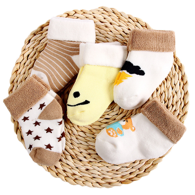 Cute Doll Non-slip Baby Toddler Socks Cartoons Crown Bear Girls Socks For 1-3 Years Old Newborn Boys Foot Sock Clothes Accessory High Quality And Low Overhead