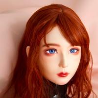 (Lili Mask) Handmade Female/girl Resin Latex Hood Full Head Japanese Cartoon Character Cosplay Kigurumi Mask Crossdresser Doll