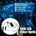 12 В 6 Вт RGB светодиодный волоконно-оптический Звездный потолочный двигатель Небесный потолочный комплект свет 150 шт. 0,75 м 2 м Оптическое волок...