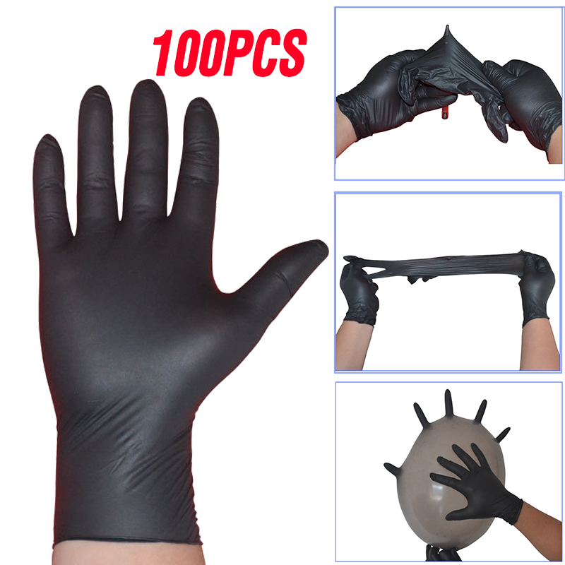 100PCS Disposable Latex Gloves Left And Right Hand Universal For Home Cleaning/Work/Food/Rubber/Garden/Lab Gloves Anti-static