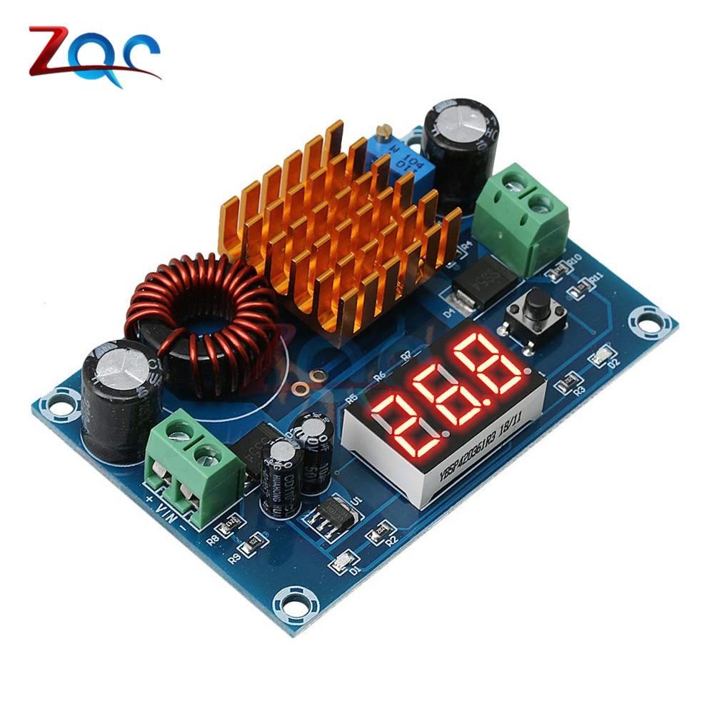 DC 3V 35V to DC 5V 45V Boost Module Digital Voltmeter DC DC Step Up Module Boost Converter Board 5A Power Adjustable for Voltage|Inverters & Converters|   - AliExpress