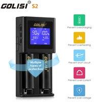 Original golisi s2 2.0a carregador de bateria inteligente lcd para 18650 20700 26650 li ion ni mh ni cd aa aaa bateria recarregável carregador|Carregadores| |  -