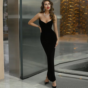 Ocstrade Reinvented Sweetheart Maxi Long Bandage Dress 2020 New Arrival Women Black Bandage Dress Bodycon Evening Party Dress
