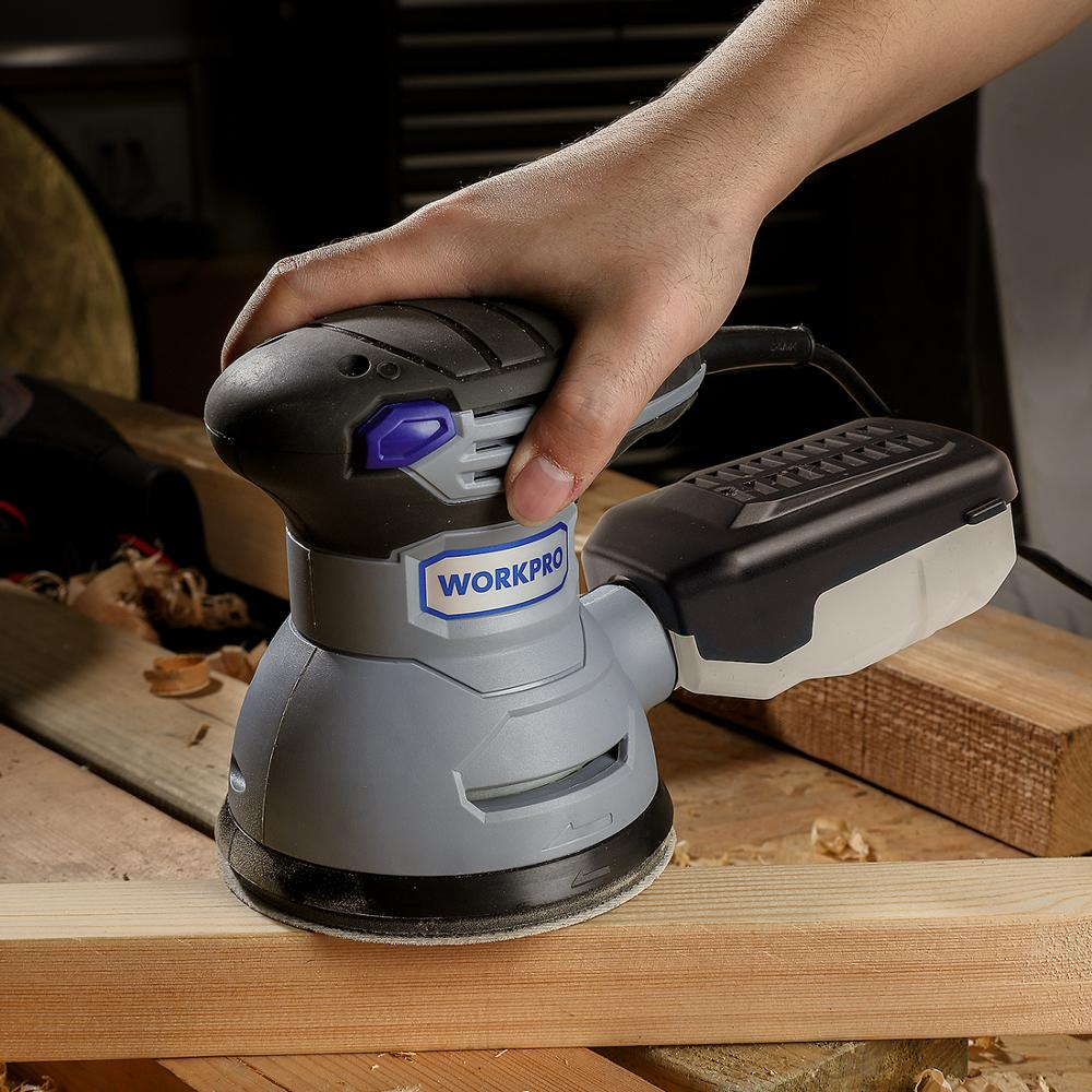 Clearance SaleWORKPRO Random-Sander with Variable-Speed Orbit Hybrid Dust-Canister 10PC