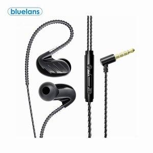 Двойная подвижная катушка In-ear 3,5 мм штекер, Hi-Fi, 6D тяжелый бас проводные наушники с микрофоном Проводные спортивные наушники игровой наушник