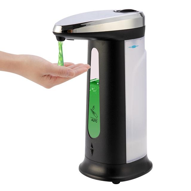 Non-contact Liquid Soap Dispenser Smart Sensor 400ML Hands-Free Automatic Soap Dispenser Pump