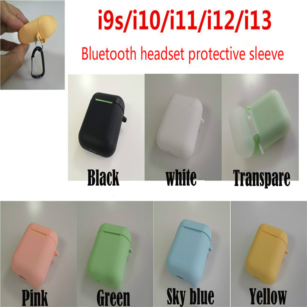 Ultra-Thin Protective Sleeve Wireless Bluetooth AirPods Headset Silicone <font><b>Case</b></font> For I9S I10 <font><b>I11</b></font> I12 I13 Factory Direct I7s <font><b>TWS</b></font> image