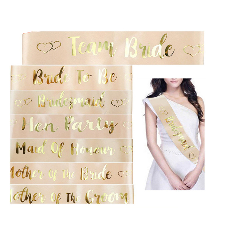Wedding Gifts and Favors Team Bride Satin Sash Bridesmaid Gift Wedding Gifts for Guests Personalized Souvenir Event Party Favors