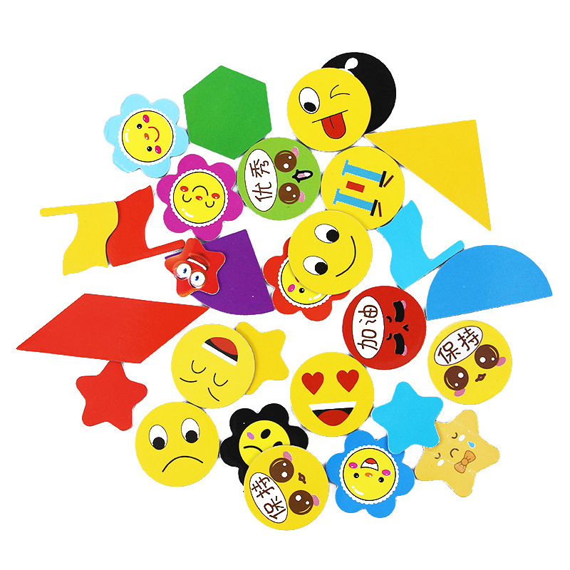 Magnetic Numbers Uppercase And Lowercase Letters Emoticons Children's Kindergarten Rewards Customized Magnetic Refrigerator