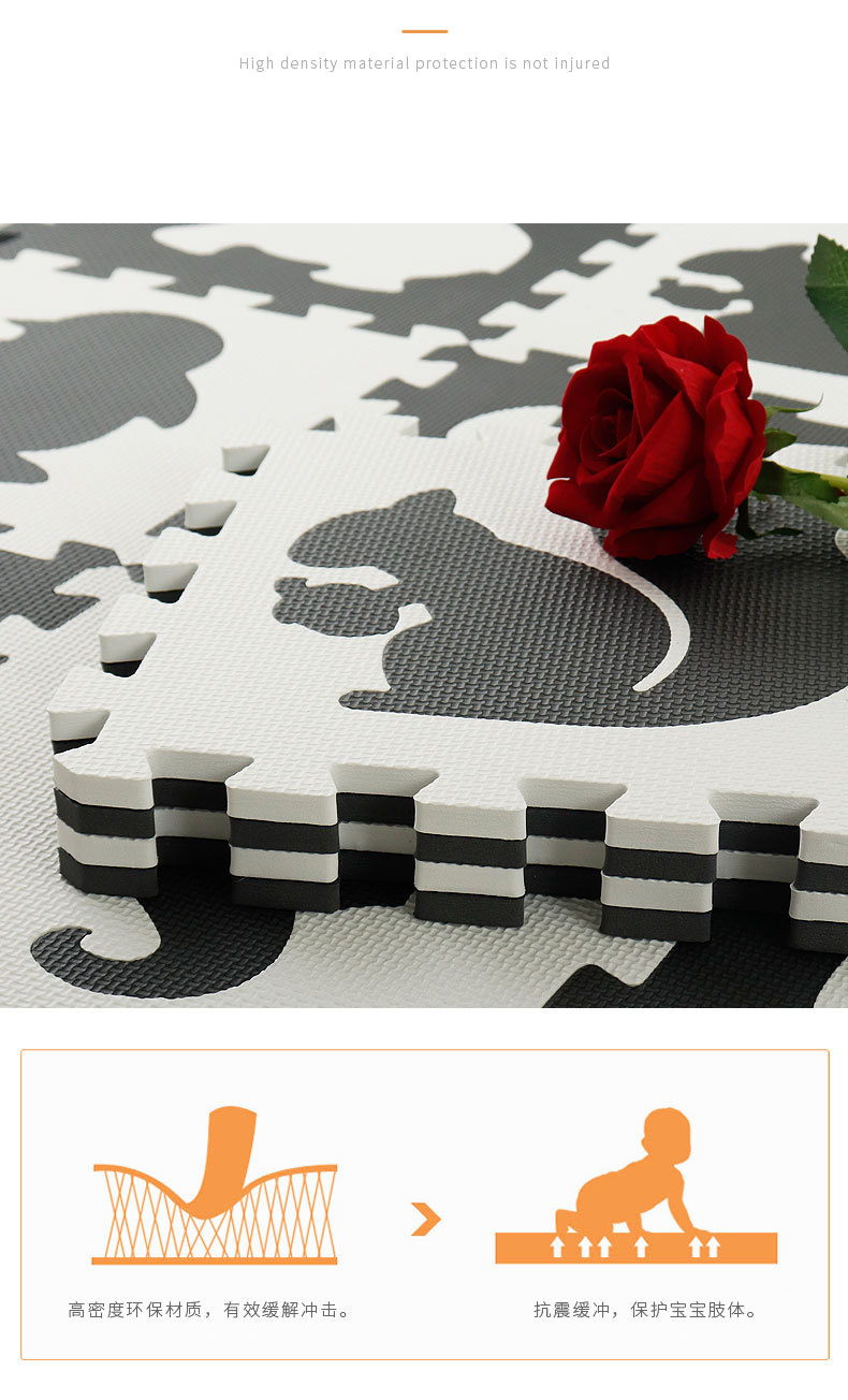 Hf184d3e93c404714a602a94ed4afe6c8i EVA Foam Play Mat with Fence Baby Puzzle Jigsaw Floor Mats Thick Carpet Pad Toys For Kids Educational Toys Activity Pad