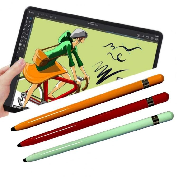Dual Heads Ends Stylus Portable Tablet Smartphone Stylus Pen Universal Replacement Soft Nib Writing Drawing Capacitive Touch Pen