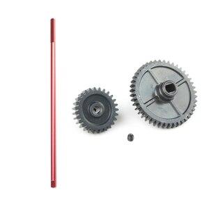 1 шт., запасные части для радиоуправляемого автомобиля, центральный приводной вал и 1 шт., усовершенствованный металлический редуктор, мотор-редуктор для Wltoys