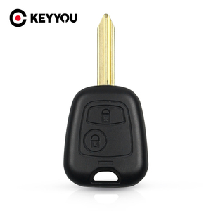 KEYYOU Key Shell Case For Citroen Xsara Picasso Berlingo 2002 2003 2004 2005 2006 2007 2008 2 Buttons Remote Key Fob Cover